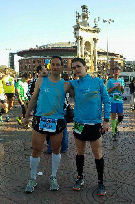 Con mi compañero Jorge, del Club de Atletas Populares de Plasencia.